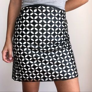 Vince Camuto laser cut out faux leather skirt 10